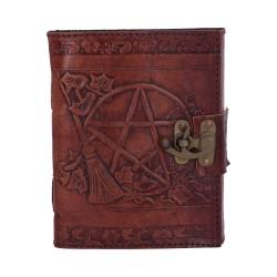 Schattenbuch Pentagramm mit Hexenbesen
