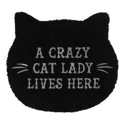 Crazy Cat Lady Fussmatte