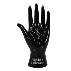 Schwarze Keramik Handlese Hand