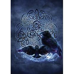 Grusskarte Celtic Raven