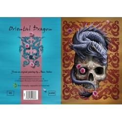 Grusskarte Oriental Drachen