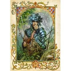 Grusskarte grüne Ritter