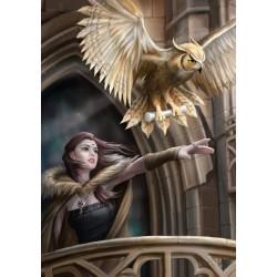 Grusskarte Owl Messanger
