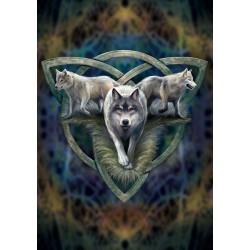Grusskarte Wolftrio