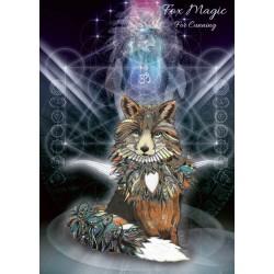 Grusskarte Fuchs Magie