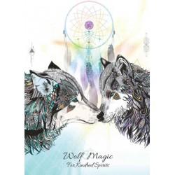 Grusskarte Wolf Magie
