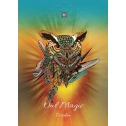 Grusskarte Eulen Magie