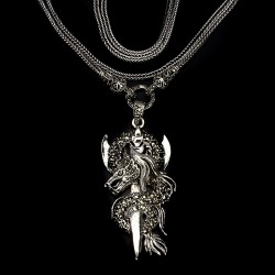 Drachen Collier mit Markasit aus der Strega Kollektion
