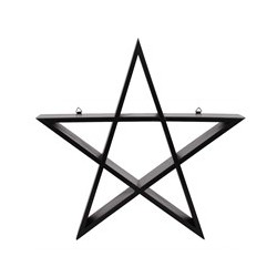 Wandregal Pentagramm