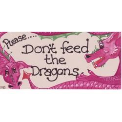 Schild Please don't feed...